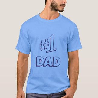 Camiseta Pai do número um do pai #1