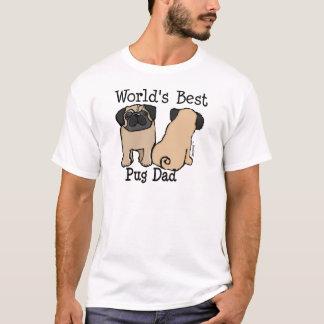 Camiseta Pai do Pug do mundo o melhor