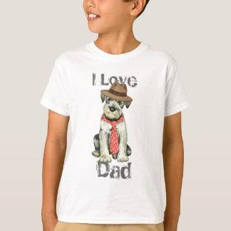 Camiseta Pai do Schnauzer padrão
