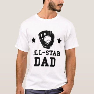 Camiseta Pai do softball de All Star