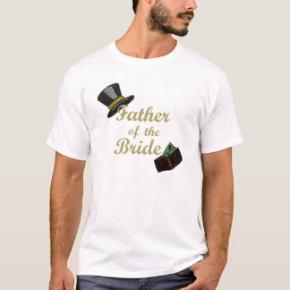 Camiseta Pai do t-shirt da noiva