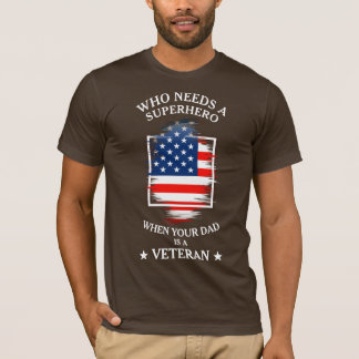 Camiseta Pai do veterano da bandeira | do pai | EUA do