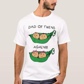 Camiseta Pai dos gêmeos outra vez