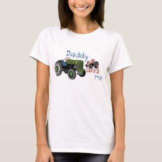 Camiseta Pai e mim tratores da menina