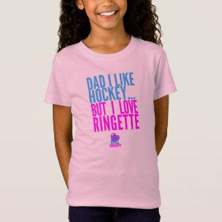 Camiseta Pai eu gosto do hóquei, mas eu amo Ringette -