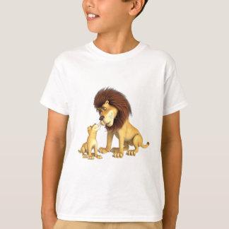 Camiseta Pai & filho do leão dos desenhos animados