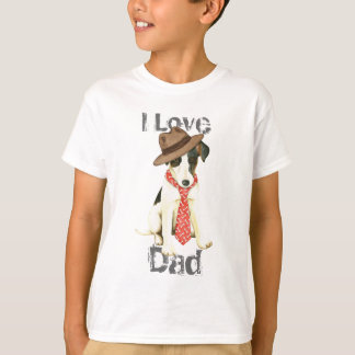Camiseta Pai liso do Fox Terrier