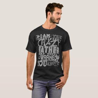 Camiseta Pai louco certificado engraçado