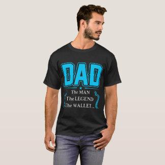 Camiseta Pai o homem o Tshirt da carteira da legenda