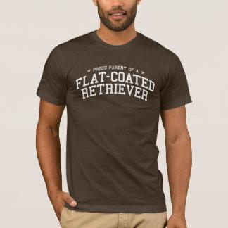 Camiseta Pai orgulhoso de um T Liso-Revestido da