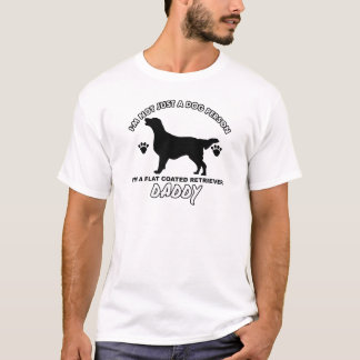 Camiseta Pai revestido liso do cão do Retriever