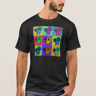 Camiseta Painéis do Dachshund do pop art