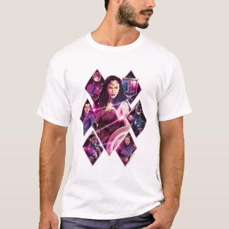 Camiseta Painéis galácticos do grupo do diamante da liga de
