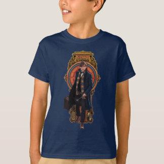 Camiseta Painel de passeio de Nouveau da arte do NEWT