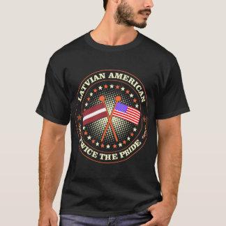 Camiseta País americano letão duas vezes o Tshirt do