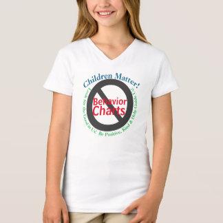 Camiseta Pais da matéria das crianças contra cartas do