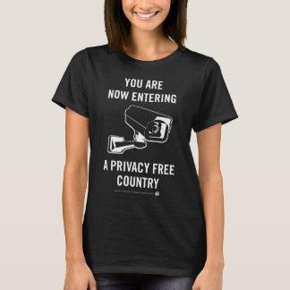Camiseta País livre da privacidade