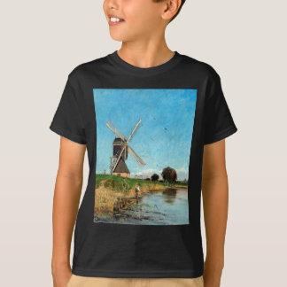 Camiseta Paisagem de Carl Skånberg com moinho de vento