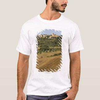 Camiseta Paisagem de Toscânia ao redor de Monticchiello sul