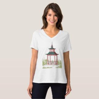 Camiseta Paisagem oriental do miradouro ou da natureza do