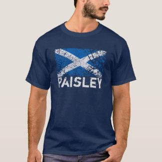Camiseta Paisley + Bandeira do Scottish do Grunge