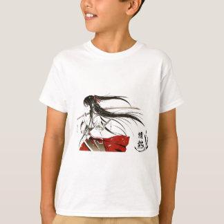 Camiseta Paixão japonesa - samurai da menina