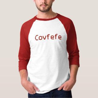 Camiseta Palavra vermelha engraçada Covfefe dos trunfos de