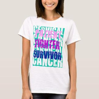 Camiseta Palcos do cancro do colo do útero