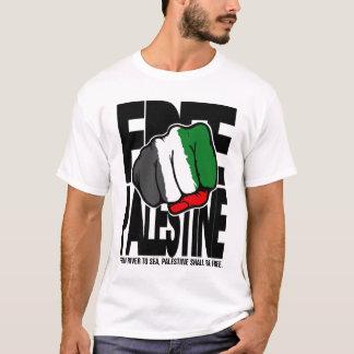 """Camiseta Palestina livre """"punho"""" - do rio ao mar"""