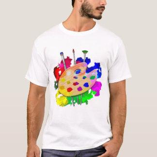 Camiseta Paleta e escovas do artista