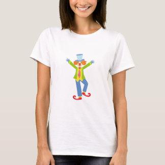 Camiseta Palhaço amigável colorido com os calçados
