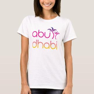 Camiseta Palmas de Abu Dhabi em cores do por do sol