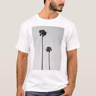 Camiseta Palmas gêmeas T preto & branco de Miami