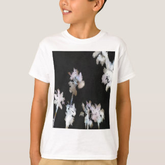 Camiseta Palmas tropicais no fundo preto
