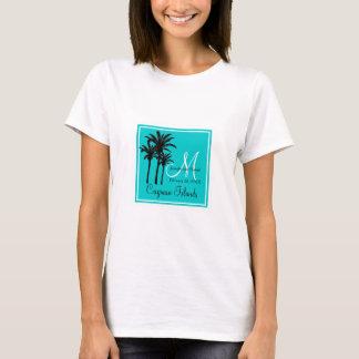 Camiseta Palmeiras azuis do casamento de praia da cerceta