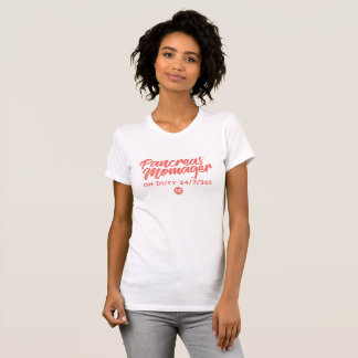 Camiseta Pâncreas Momager (coral)