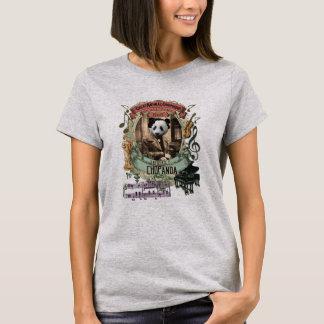 Camiseta Panda animal da série do compositor de Frederic