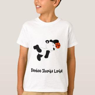 Camiseta Panda Dunking da batida dos desenhos animados