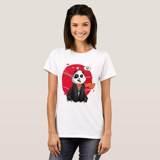 Camiseta panda em estilo oriental