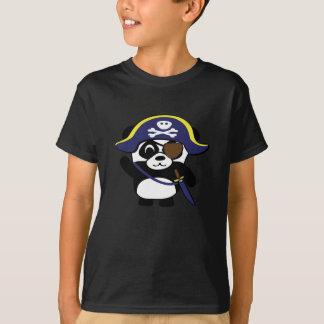 Camiseta Panda no traje do pirata dos azuis marinhos