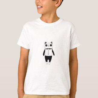 Camiseta Panda preto e branco pequena