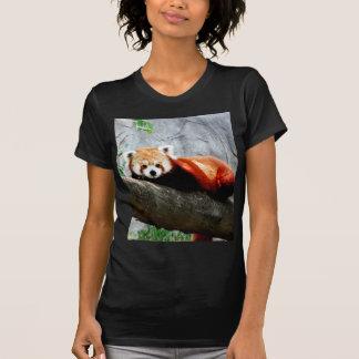 Camiseta panda vermelha animal engraçada bonito