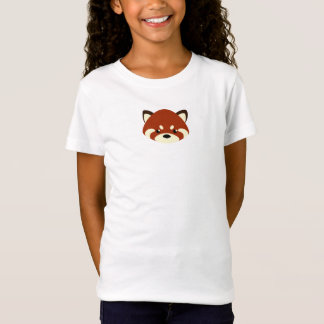 Camiseta Panda vermelha bonito
