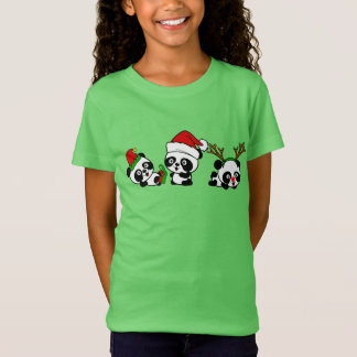 Camiseta Pandas do Natal