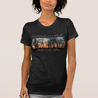 Camiseta Panorama baixo médio para mulheres