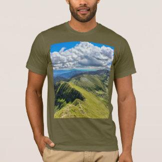 Camiseta Panorama da montanha do t-shirt dos homens
