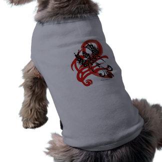 Camiseta Panos tribais do animal de estimação do corvo