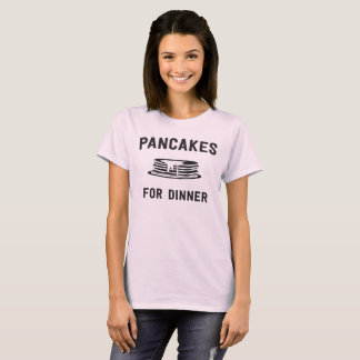 Camiseta Panquecas para o comensal com a pilha ilustrada da