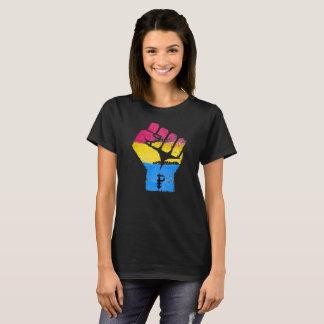 Camiseta PANSEXUALS RESISTEM o PUNHO - trabalhos de arte do