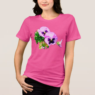 Camiseta pansies com butterfly17